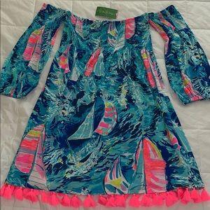 NWT Lilly Pulitzer Trina Beach Dress Hey Bay Bay